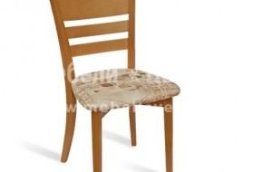 Масивен буков стол с шарена тапицерия по избор или кожа.