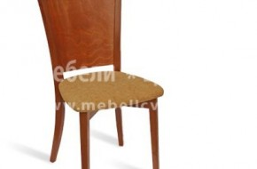 Буков стол с плътна облегалка от масивен буков шперплат.